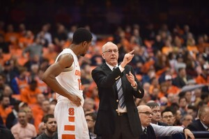 On Saturday Boeheim completed his 41st season at the helm of Syracuse. He'll coach at least two more seasons.