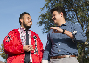 José Waimin passed on the role of Phi Iota Alpha president to his best friend, roommate and brother — Benny Rodríguez — at the start of the semester.