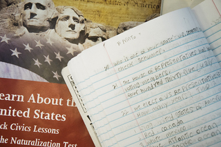 RISE's citizenship class — which takes place on Mondays, Wednesdays and Fridays — focuses on the 100 possible questions that may be asked on the naturalization exam.