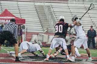 Syracuse's Ben Williams dominated the faceoff X, winning 70 percent of his chances and all five in the fourth quarter.